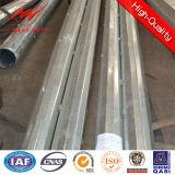 Гальванизированное стальное трубчатое Поляк для надземной линии проекта