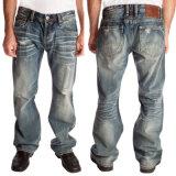 Venda Por Atacado New Fashion Men's Pigment Dyed Denim Jeans