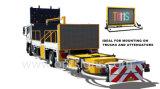 Signe de message variable monté sur camion mobile à LED Vms, afficheur de message de variable variable monté sur camion LED