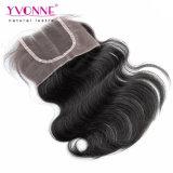 Menschenhaar-Spitze-Oberseiten-Schliessen Remy Haar-Schliessen