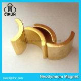 Gold überzogener Neodym-permanenter Lichtbogen-Bewegungsmagnet