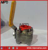 Válvula de esfera forjada da flutuação do NPT da linha do aço 3-PCS