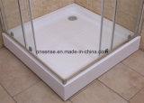 Caixa simples do chuveiro com vidro transparente