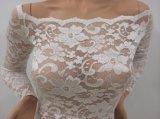 Nuovo rivestimento del corpo del merletto di Floar di disegno fuori dal merletto nero sexy Jumpsut della spalla
