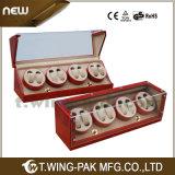 Dobadoura de madeira a pilhas original do relógio de 8 entalhes