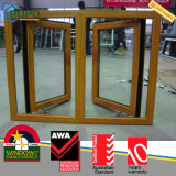Impato dourado Windows do furacão do Woodgrain UPVC/PVC do carvalho