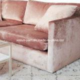 家具のソファーのための金が付いている担保付きの革群がるファブリック