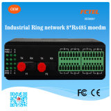 Modem industriel Ring Network 8 Channel RS485 Serial à Fiber Converter