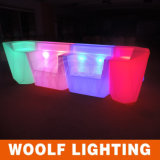 LED Bar Furniture Glow Bar Counter Straight Bar Tables