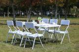 使用されるプラスチック折りたたみ椅子椅子の屋外の椅子を食事する