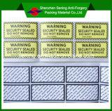 Destructible Anti-Counterfeit бумажный слипчивый предупреждающий стикер