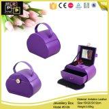 Caixa de armazenamento de jóias feitas à mão com cor violeta