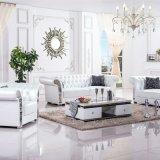 Europäisches modernes Wohnzimmer-Ecken-Leder-Sofa