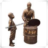 청동색 동상 직매, 중국 특성 (IO s011/s012/s013/s014/s015)의 정원 동상