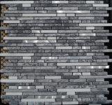 Anti Slip decoración del hogar de piedra en mosaico (FYSN093)