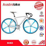 Bici fissa blu bianca di colore 26inch della strada 700c della bici di Stee della lega dell'attrezzo del blocco per grafici fisso di alluminio all'ingrosso della bici a buon mercato per la vendita