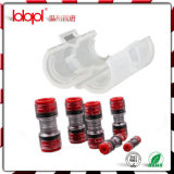 Direktes Install Coupler 16/13mm Red Transparent