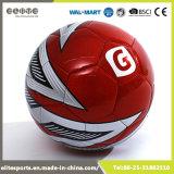 Шарик футбола PVC размера 5 кожаный с 2 подкладками
