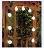 Xmas 나무 수정 구슬 덮개를 가진 옥외 태양 강화된 LED 끈 빛