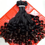 Волосы бразильянина девственницы Funmi выдвижений волос нарисованные двойником дешевые