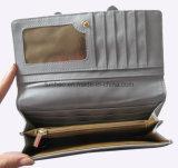 Heißer Verkauf PU-lederne Mappe mit Bogen, Nizza konzipiert, Form-Dame Wallet mit Inner-Form