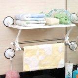 Crémaillère de support d'essuie-main d'étagère de salle de bains avec la cuvette d'aspiration