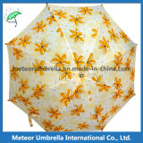 Saleのための美しい中国のStyle Printing Yellow Flower Umbrella