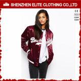 2016 оптовых обыкновенных толком изготовленный на заказ женщин курток бейсбола сатинировки