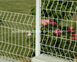 Много цветов загородка и изогнутая столбом загородка и столбом для сада