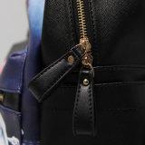 黒いPU Bambiパターンバックパック袋(15A056)