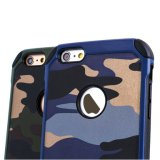 Caso áspero híbrido Shockproof da Gota-Prova TPU do defensor de Camo para iPhone6