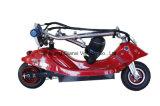 Motorino elettrico pieghevole di mobilità della piccola rotella di colore rosso due (QX-1003)