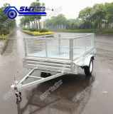 Cage (SWT-BT74-L)를 가진 가격 Trustworthy Galvanized Box Trailer