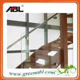 Acero inoxidable Interior de cristal Escalera