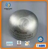 Ajustage de précision de pipe en acier de chapeau d'ASME Wp304/304L solides solubles avec le service d'OEM (KT0074)