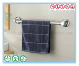 Única barra de toalha sanitária do banheiro do aço inoxidável com os suportes do copo da sução