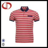 Chemises de polo des hommes rayés de mode de qualité 2016