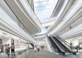 Escalator lourd de public de métro d'aéroport