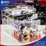 Organisateurs cosmétiques acryliques clairs de renivellement de tiroirs de l'organisateur 4