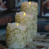 De Kaarsen van het Patroon van het borduurwerk met het Gele Trillen