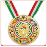 Souvenir GiftのためのカスタムCarnival Festival Gold Plated Medal