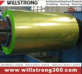 Катушка покрытия PVDF алюминиевая в металлическом цвете