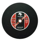 Os abrasivos eliminaram a roda 355X3X25.4