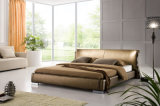 Modernos muebles de diseño elegante dormitorio cama de cuero para adultos (HC201)