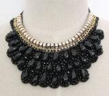 Collar de la joyería de traje de moda hecha a mano del grano de cristal ( JE0001 )