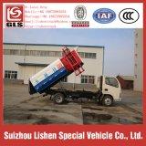 Dongfengの油圧揚げべらの屑コレクターのトラック小さいクレーンバケツのごみ収集車