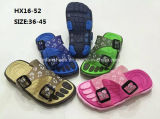 女性およびMenのColorful Casual Summer Beach Slipper PVC Slipper Sandal Shoes (HX16-52)