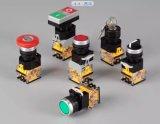 Lâmpada indicadora, lâmpada do diodo emissor de luz, interruptor de tecla, interruptor