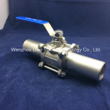 Grade industriale Extended Weld 3PC Ball Valve