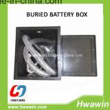 Cadre de batterie souterrain/enterré pour le système de réverbère